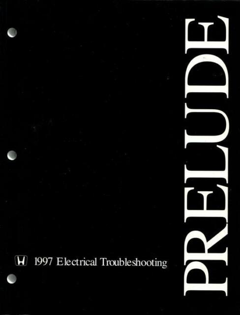 Shop Manual Prelude 1997 Honda Electrical Wiring Service Repair Book Diagrams
