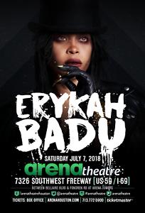 Details about ERYKAH BADU 2018 HOUSTON CONCERT TOUR POSTER- R&B, Neo Soul,  Funk, Hip Hop Music