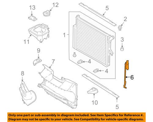 PORSCHE OEM 08-10 Cayenne 4.8L-V8 Radiator-Side Seal Right 95510634701