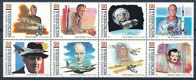 300542 Mikronesien 8erblock Nr.265-272** Luft Raumfahrt Pioniere Flugzeuge Etc Und Ein Langes Leben Haben.