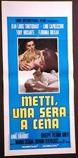 Locandina METTI UNA SERA A CENA 1969 TRINTIGNANT MUSANTE BOLKAN CAPOLICCHIO