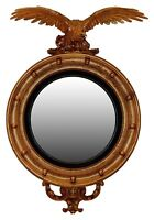 Patriotic Eagle Style 4 Convex Wall Mirror Available In 25 Colors