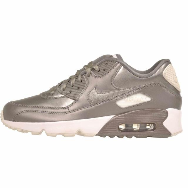 Nike Air Max 90 LTR SE GG GS Kids Youth Running Shoes Pewter NWOB 897987 005