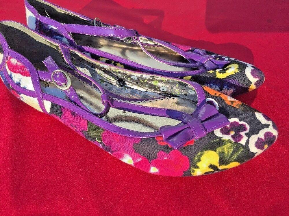 Vente @ Poetic Licence Pansy Fleur Anthropologie ballet flats Chaussures femmes SZ 7.5