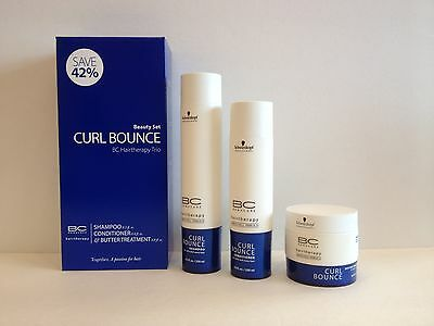 BC BONACURE HAIRTHERAPY CURL BOUNCE SHAMPOO , CONDITIONER AND BUTTER TREATMENT