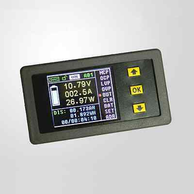 DC 120V 50A DC Voltmeter Ammeter Power Meter Capacity Coulomb Counter VAC-1050A