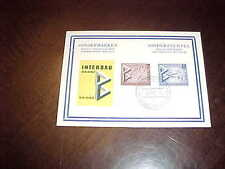 1957 Sondermarken Interbau Berlin Germany First Day Issue Stamp Postcard