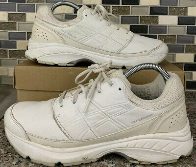 ASICS Womens Gel Foundation 13 White Running Shoes 8.5 Q552L (2E) Extra Wide | eBay