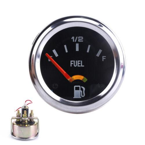 "2/"" 52mm Mechanical Auto Car Fuel Level Gauge Without Sensor E-1//2-F Pointer 12V"
