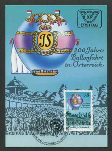ÖSTERREICH MK AVIATION BALLON BALLOON MAXIMUMKARTE MAXIMUM CARD MC CM m210/7
