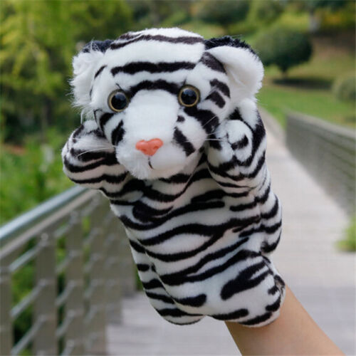 Cartoon Animal Tiger Hand Glove Puppet Plush Kid Role Play Toys Story Telling Z