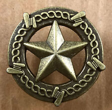 Star Barbwire Drawer Cabinet Knob Pull Western Decor Antique Brass