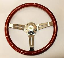 """Bronco F100 F250 F350 Torino Steering Wheel Wood 15"""" Classic Style Ford Center"""