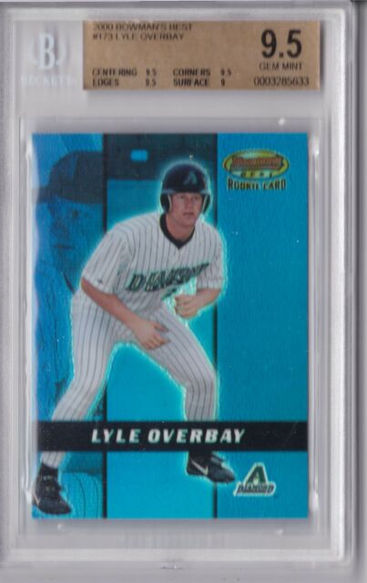 2000 Bowman Best Lyle Overbay Rookie Graded BGS 9.5