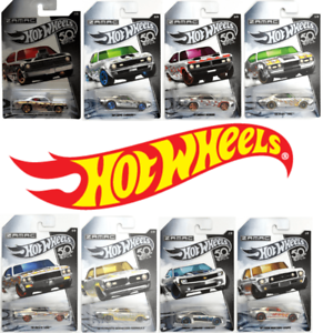 Hot-Wheels-Zamac-50th-aniversario-coches-FRN24-Set-Completo-De-8-Autos-Die-Cast