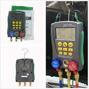 Vehicle-Digital-Display-Air-Conditioning-Refrigerant-Pressure-Gauge-Liquid-Meter