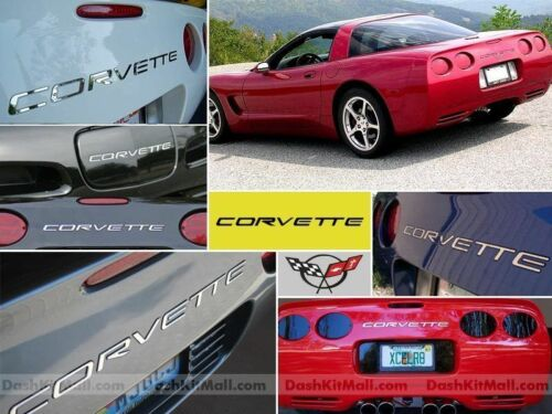 DKMCHROME FRONT+REAR BUMPER LETTERS FOR CHEVY CORVETTE C5 1997-2004 NOT DECAL