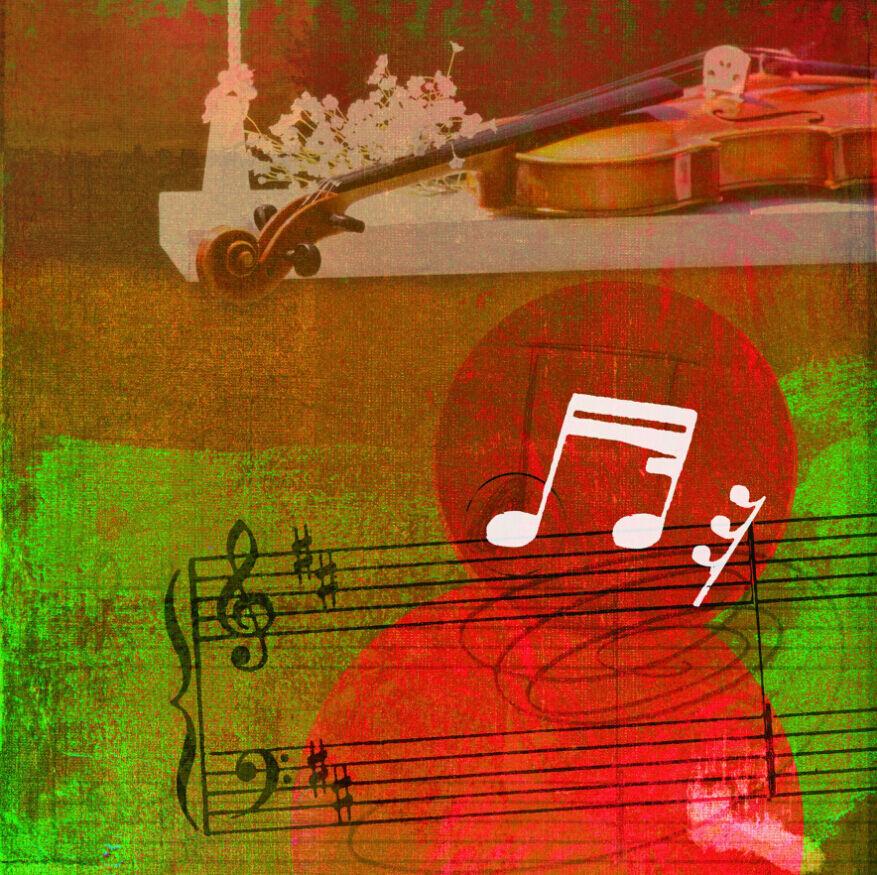 3D Bel Musique 24 Photo Papier Peint en Autocollant Murale Plafond Chambre Art