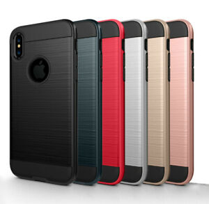 For-iPhone-XS-Max-X-XR-7-Plus-7-5-6S-Plus-Case-Cover-Tempered-Glass-Protector