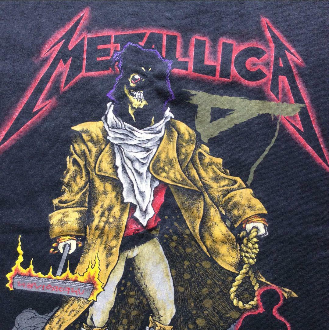 METALLICA T SHIRT VINTAGE MEN RARE 1992 GRAPHIC LARGE CASUAL MADE IN USA F/S