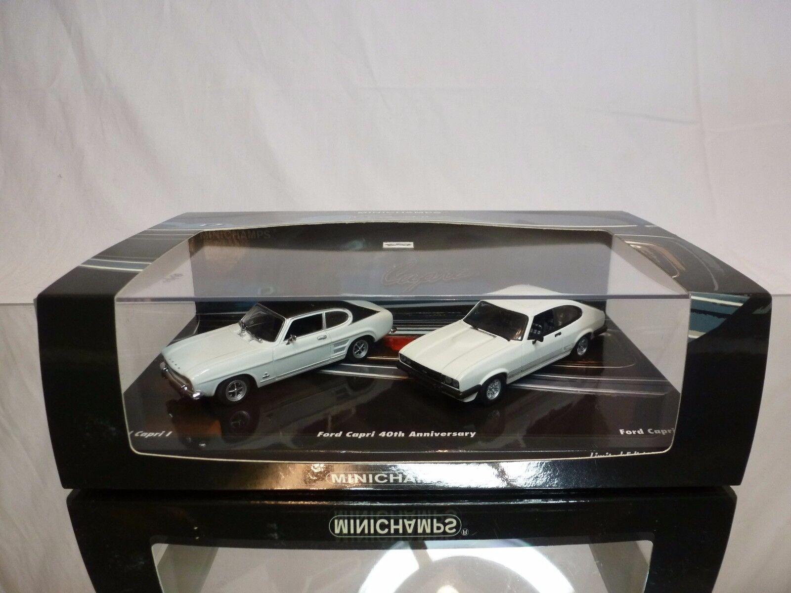 Minichamps 80103 ford capri i + ii - 40. jahrestag 1 43 ausgezeichnet im kasten