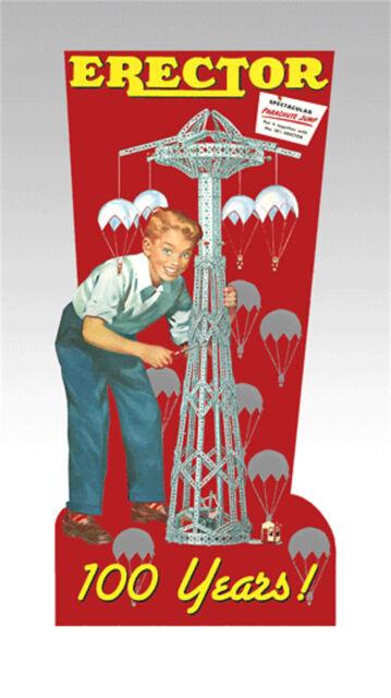 Miller's Erector 100 Years Gilbert  Animated Neon Sign O/HO Scale #88-1201