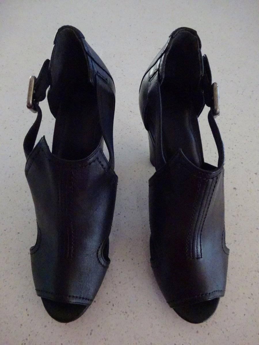 Nueva Marca Lisa Ho  invierno problemas  Negro Cuero Cuero Cuero Peep Toe Tacones-Talla 40 -  490  ventas en linea