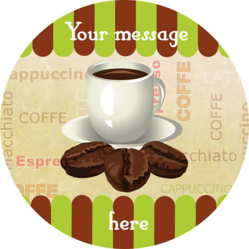 CUP OF COFFEE Image Edible cake topper design