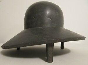 Rare-Industrial-Cast-Metal-French-Ladies-Hat-Millinery-Form