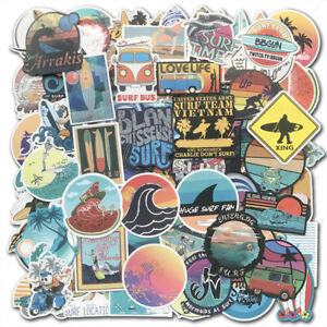 100-SUMMER-Surf-Stickers-bomb-Vinyl-Skateboard-Luggage-Surfboard-Dope-Decals-Lot