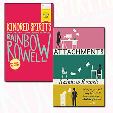 Rainbow Rowell Collection 2 Books Set Pack Kindred Spirits & Attachments NEW