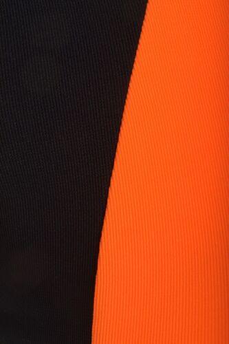Womens Plus Size Neon Contrast Florescent Colors Midi Bodycon Dress 16-24