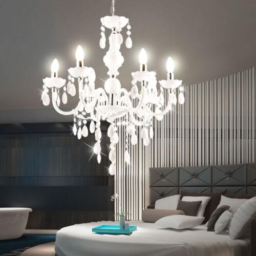 Decken Design Kronleuchter Wohn-Ess-Zimmer Kristall Behang Lüster Pendel Leuchte