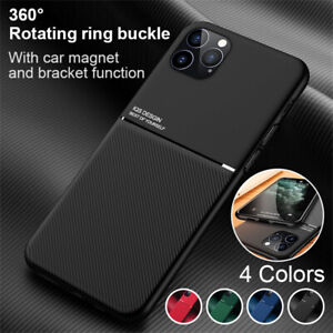 Pour iPhone 12 Mini 12 Pro Max Etui Anti-choc Luxe Coque TPU Support Magnétique