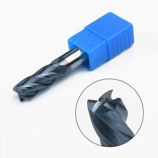 12mm Carbide Tungsten End Mill 4 Flute Shank Drill HRC50 75mm Length Flat Bottom