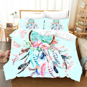 Dreamcatcher Floral Single/Double/Queen/King Bed Duvet Quilt Doona Cover Set