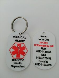 Personalised-Medical-Alert-keyring-for-diabetic-insulin-dependent