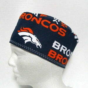 22b64a9ef Details about Denver Broncos Mens Surgical Scrub Hat, Skull Cap, Chemo Hat