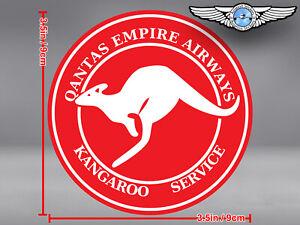 QANTAS-EMPIRE-AIRWAYS-KANGAROO-SERVICE-ROUND-LOGO-DECAL-STICKER