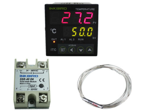 Inkbird PID Digital Temperature Controller Thermostat brewing fan K sensor PT100