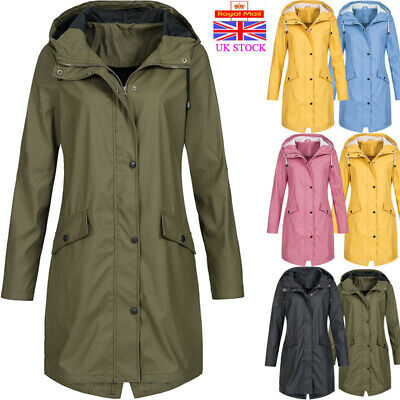 Womens Parka Casual Jacket Ladies Trench Coat Hooded Winter Mac Size 12 to 20