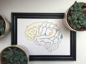 Doctor-Gift-Art-Prints-A4-Human-Brain-Anatomy-Prints-Wall-Decor