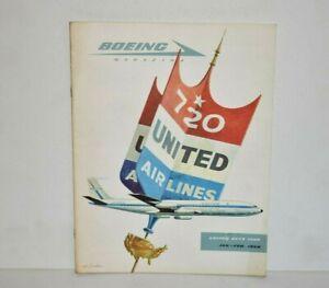 Boeing Magazine Jan-Feb 1958 United Airlines 720 United Buys 720s
