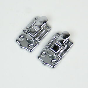 2x Drawbolt Closure Latch for Guitar Case /musical cases ,45mm 6431 Chrome