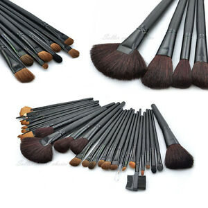 32PC-Cosmetic-Brushes-Brush-Set-Kit-Makeup-Make-up-leather-Case-Pouch-GiftIdeas