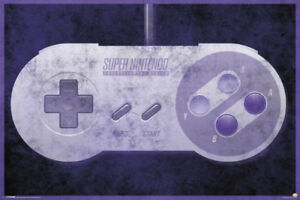 Nintendo-SNES-Controller-Video-Gaming-Poster-36x24-inch
