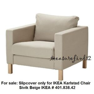 Image Is Loading Ikea COVER For Karlstad Chair Karlstad Armchair SLIPCOVER