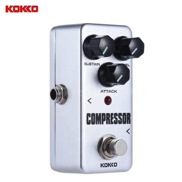 KOKKO FCP2 Mini Compressor Pedal Portable Guitar Effect Pedal White G4U9