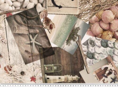 140cm Digitaldruck Maritimer Dekostoff Baumwolle