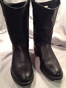 cd77dab22a8 Details about Mens Laredo Western Boots Black Sz 10 EE Oil Proof Neoprene  Biltrite Soles